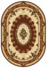 Ковер DA VINCI_5440, 1*2, OVAL, BROWN